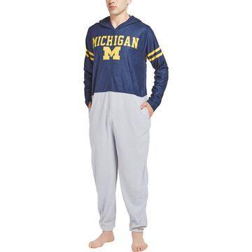 Michigan Wolverines Concepts Sport Warm Up Union Bodysuit - Navy