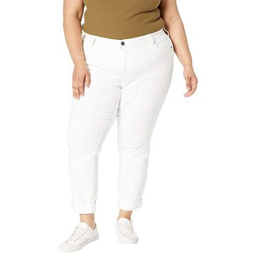 KUT from the Kloth Plus Size Catherine Boyfriend in Optic White