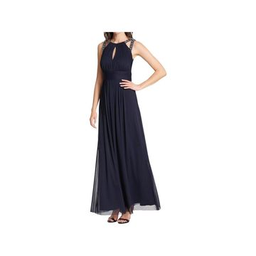 Jessica Howard Womens Evening Dress Rouched Jeweled - 10
