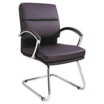 ALERA 10703-02 Neratoli Slim Guest Chair,Soft Leather