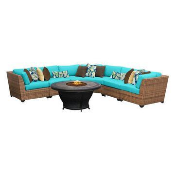 TK Classics Laguna 6-Piece Outdoor Wicker Sofa Set, Aruba
