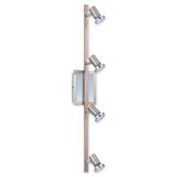 EGLO USA Rottelo 4-Light Wall-Mount Track Light in Matte Nickel/Chrome