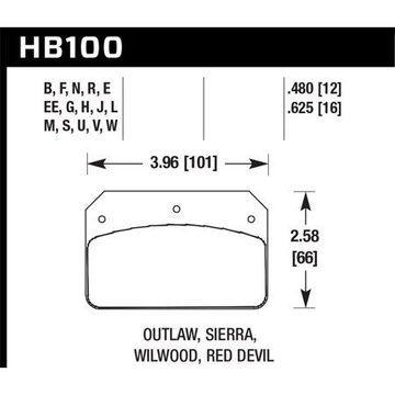 Hawk Wilwood Dynalite Caliper HPS Street Brake Pads