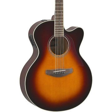 Yamaha CPX600 Medium Jumbo Acoustic-Electric Guitar Old Violin Sunburst