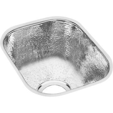 Elkay Gourmet 10-in L x 12-in W Hammered Mirror Stainless Steel Undermount Residential Bar Sink   SCUH1012SH