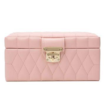 Caroline Small Jewelry Case - Rose Quartz