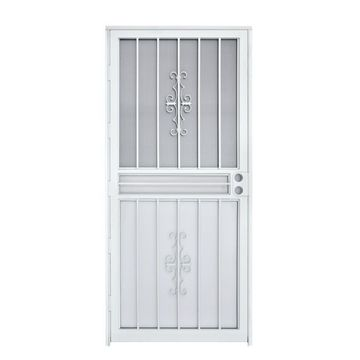 Gatehouse Resolute White Steel Recessed Mount Single Security Door (Common: 36-in x 80-in; Actual: 35-in x 78.5-in)