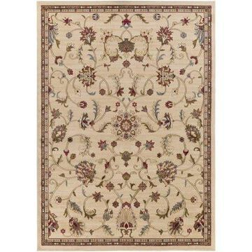 """Art of Knot Sabin Beige 7'10"""" x 10'10"""" Traditional Floral Area Rug"""