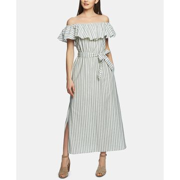 Cotton Off-The-Shoulder Maxi Dress