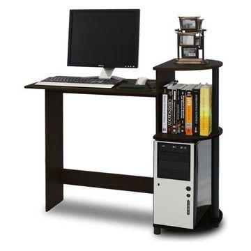 Furinno Compact Computer Desk, Espresso/Black