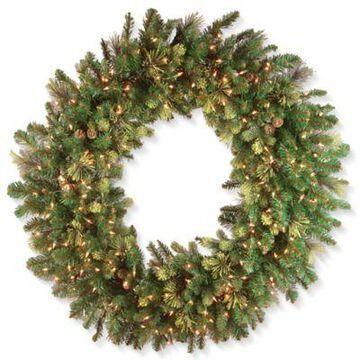 National Tree Company 48-Inch Pre-Lit Carolina Pine Wreath