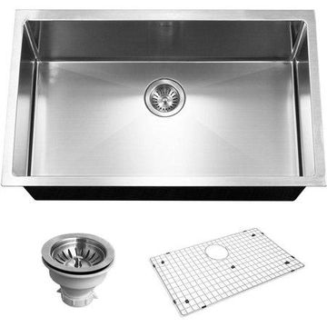 Houzer CNG-3200 Savoir Series 10mm Radius Undermount Single Bowl Kitchen Sink