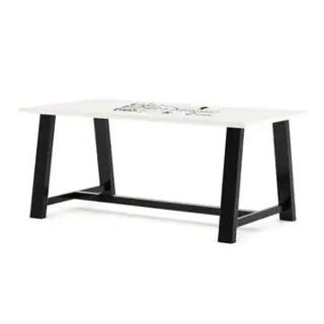 """KFI Whiteboard Conference Table, Trestle Base (72"""" W x 42"""" D x 30"""" H)"""