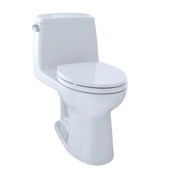 TOTO MS854114SL UltraMax One Piece Elongated 1.6 GPF Toilet with G-Max Flush System - SoftClose Seat Included Cotton Fixture Toilet One-Piece