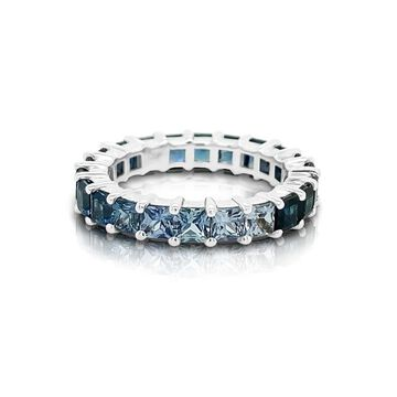 Noray Designs 14K Gold Ombre Blue Sapphire (3MM) Eternity Ring