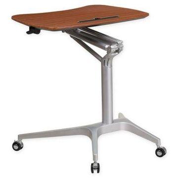 Flash Furniture Mobile Desk in Mahogany