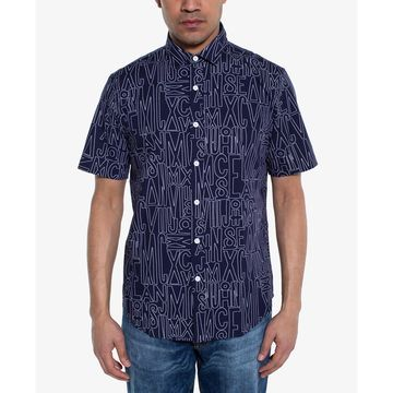 Men's Regular-Fit Logo-Print Shirt