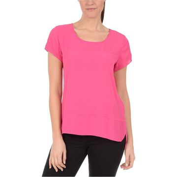 Ny Collection Womens Jewel Yoke Basic T-Shirt