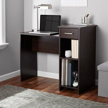 Mainstays Student Desk with Easy-glide Drawer, Cinnamon Cherry Finish