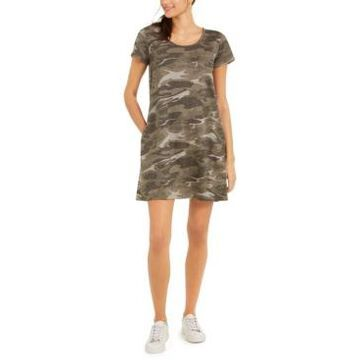 Style & Co Petite Cotton Print T-Shirt Dress, Created for Macy's