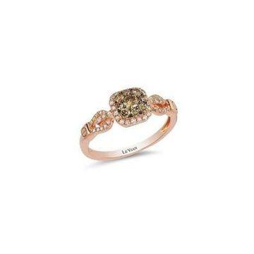 Chocolatier Vanilla Diamonds, Chocolate Diamonds and 14K Strawberry Gold Ring