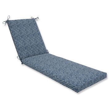 Outdoor/Indoor Ink Chaise Lounge Cushion - Pillow Perfect