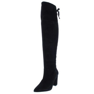 Adrienne Vittadini Womens Nilson Suede Pointed Toe Dress Boots