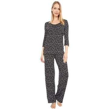 HUE Snoozy Cat Rayon PJ Set Women's Pajama Sets