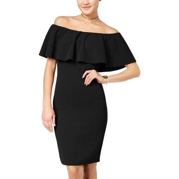 Crave Fame by Almost Famous Womens Juniors Off-The-Shoulder Bodycon Dress