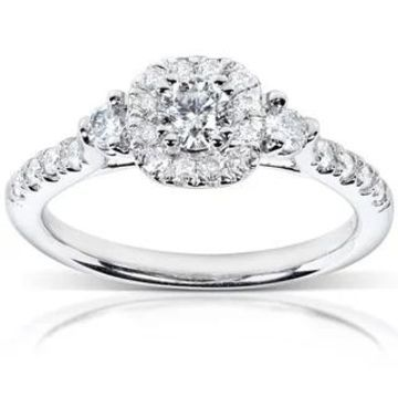 Annello 14k White Gold 1/2ct TDW Diamond Engagement Ring (10)
