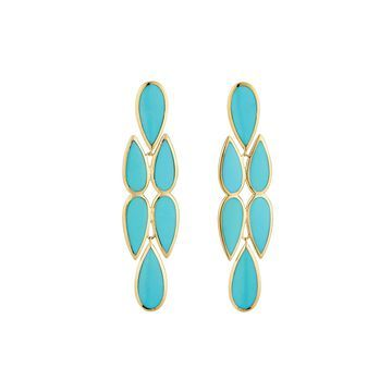 18K Polished Rock Candy Drop Earrings in Turquoise