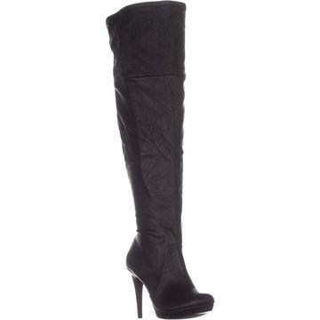 Thalia Sodi Womens BECKIE Leather Almond Toe Knee High Fashion