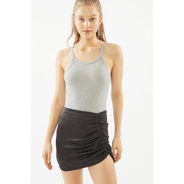 Motel Ruched Mini Skirt