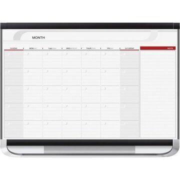 Quartet Prestige 2 Magnetic Monthly Calendar Board, 3' x 2', Total Erase Surface