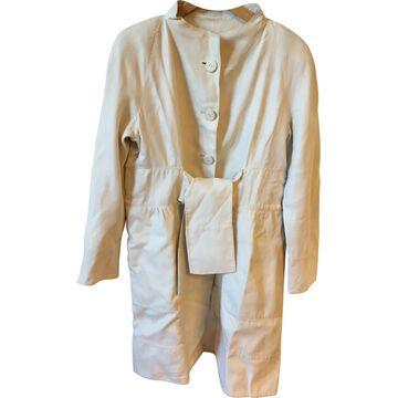Valentino Ecru Silk Jackets