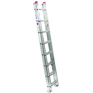 Werner 16 ft. H X 16 in. W Aluminum Extension Ladder Type III 200 lb. capacity