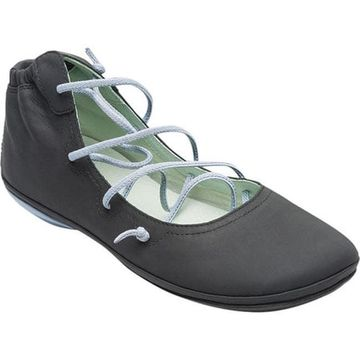 Camper Women's Right Nina Strappy Flat Black Leather