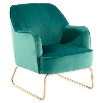 Lumisource Velvet Daniella Chair in Green