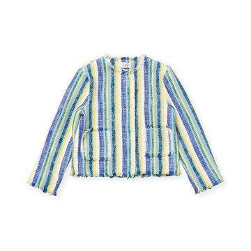 Il Gufo Girls Striped Fringe Jacket