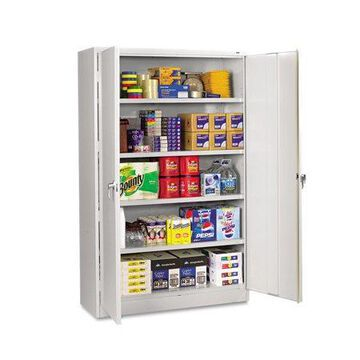 Tennsco Assembled Jumbo Steel Storage Cabinet, 48w x 24d x 78h, Light Gray