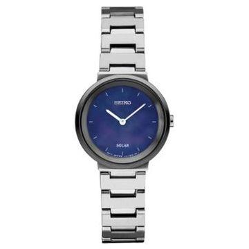 Seiko Women's Solar Essentials Stainless Steel Bracelet Watch 27.5mm