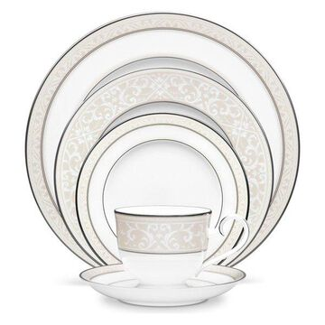 Noritake Montvale Platinum, 5-Piece China Setting, Set of 12