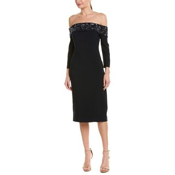Theia Womens Sheath Dress