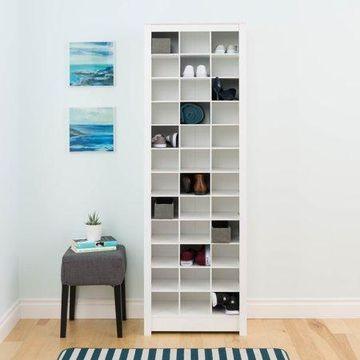 Prepac 36 Pair Shoe Storage Rack, White