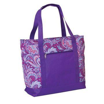 Lido 2 In 1 Cooler Bag, Blue Blossom, Purple Envy