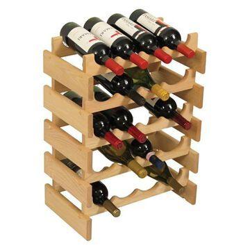 Wooden Mallet 20 Bottle Dakota Wine Rack Unfinished