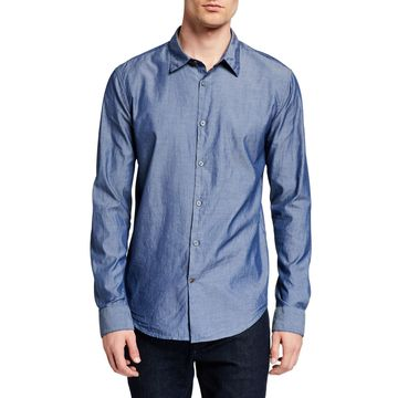 Men's Mayfield Slim-Fit Long-Sleeve Sport Shirt