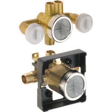 Delta 1/2-in ID OD Compression x 1/2-in OD Od Compression Brass Diverter Valve | R18000-XOWS