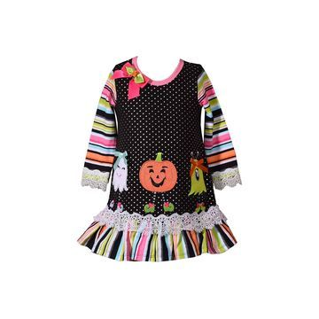 Bonnie Jean Halloween Girls Long Sleeve A-Line Dress - Baby