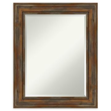Amanti Art Alexandria Brown Framed Bathroom Mirror